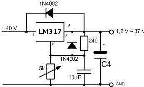 lm317 schutzdiode elektronik bauteile. Black Bedroom Furniture Sets. Home Design Ideas